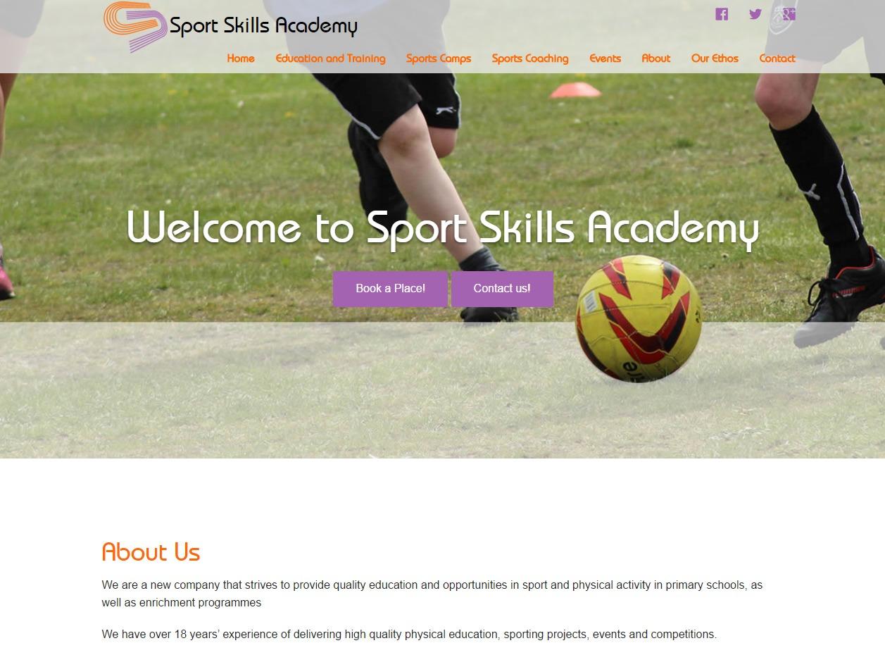 Theme WordPress Sports Skills Academy