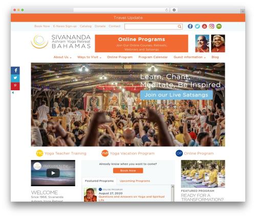 WordPress theme SAYR Child of Toolset Bootstrap - sivanandabahamas.org