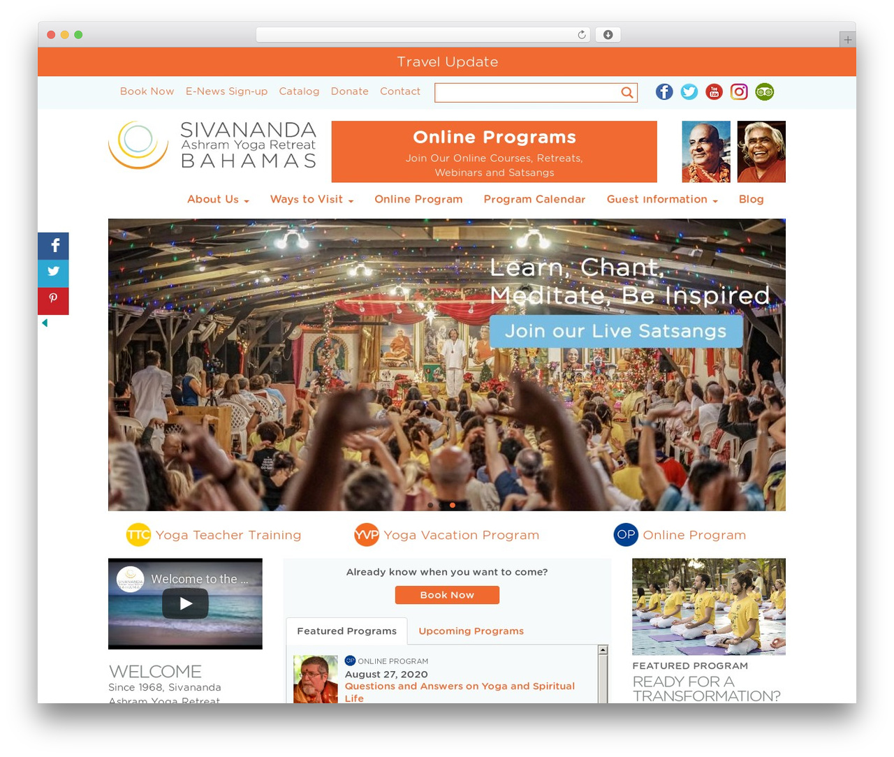 WordPress theme SAYR Child of Toolset Bootstrap - sivanandabahamas.org