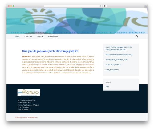 WordPress website template 2013 Blue - sirioservizi.it