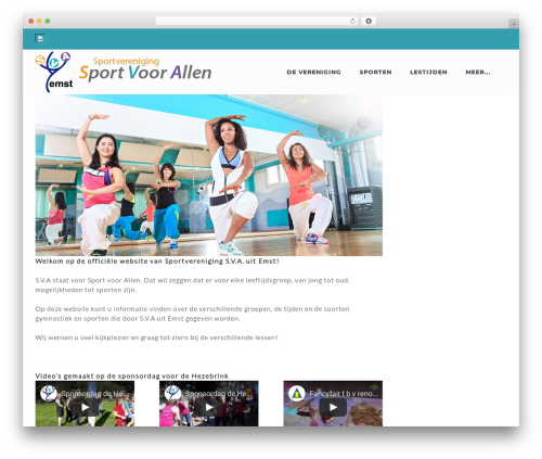 WordPress website template Zoomba - sva-emst.nl