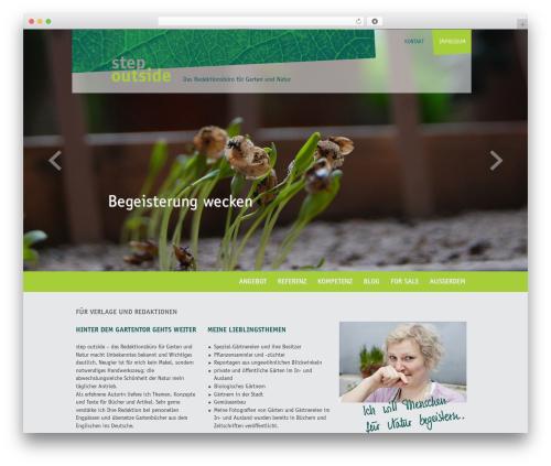 Classic WordPress page template - stepoutside.de