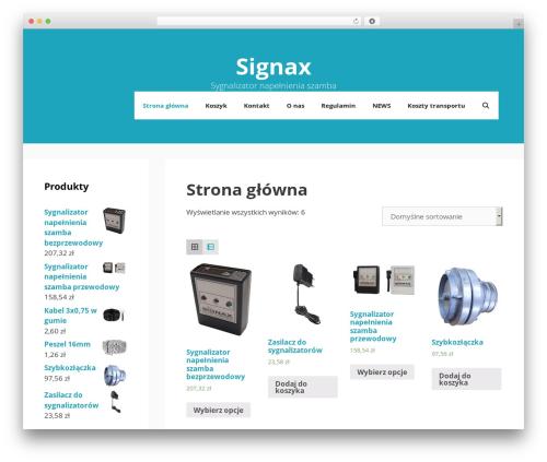 GeneratePress best WordPress template - signax.pl
