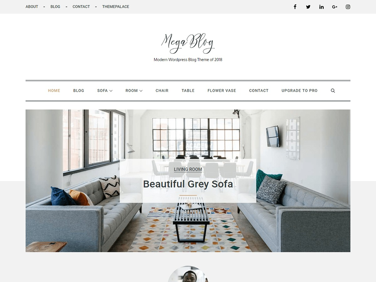 Mega Blog WordPress blog template