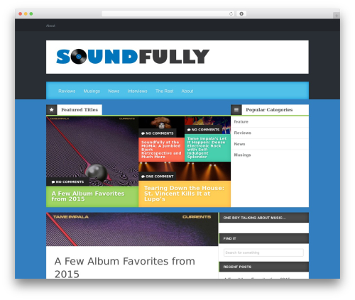 Reviewgine Affiliate top WordPress theme - soundfully.com