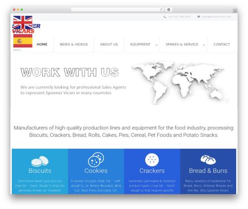 Salamat food WordPress theme - spoonervicarsbakery.com