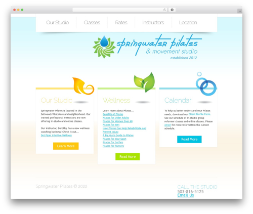 Theme 1257 theme WordPress - springwaterpilates.com