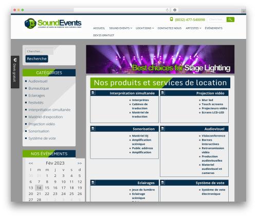 Theme WordPress Searchlight - soundevents.be/fr