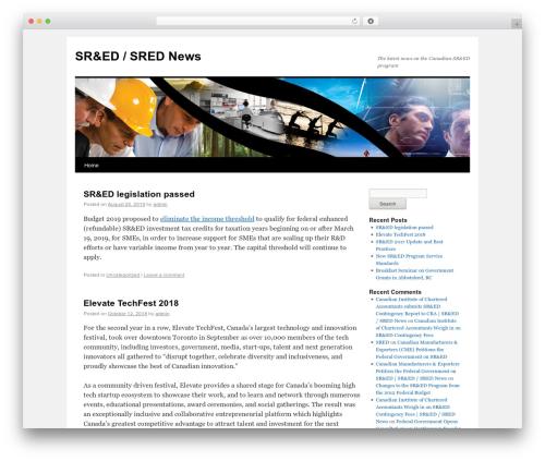 Twenty Ten WordPress theme - srednews.ca