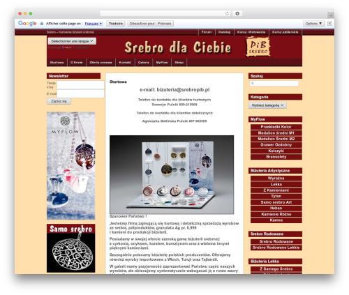 WordPress theme Wappos - srebropib.pl