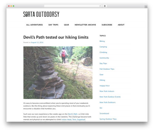 Best WordPress template Edin - sortaoutdoorsy.com