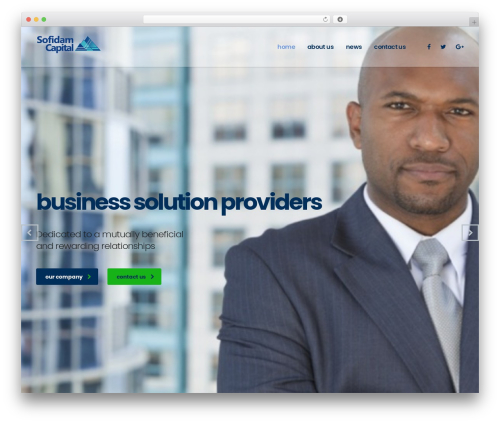 Consulting top WordPress theme - sofidamcapital.com