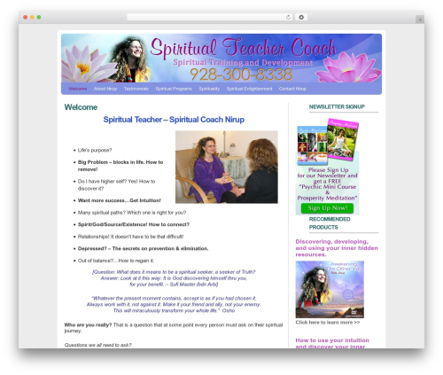 MarketerCMS top WordPress theme - spiritualteachercoach.com