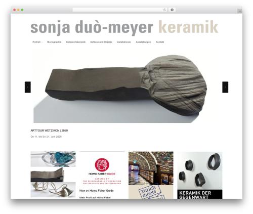 Portfolio theme WordPress portfolio - sonjaduo-meyer.ch