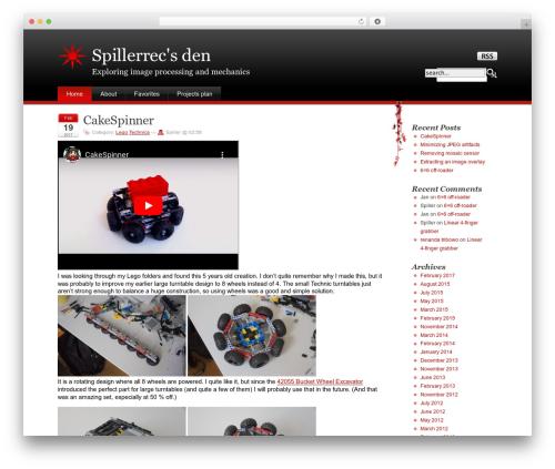 Stardust WordPress theme design - spillerrec.dk