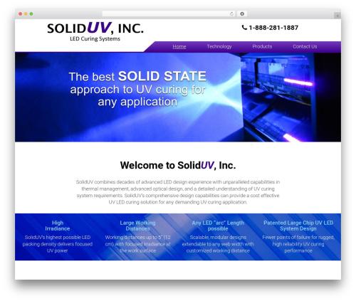 WordPress theme Your Web Layout - soliduv.com