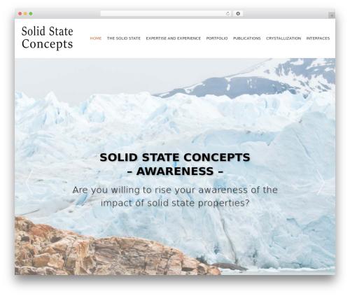 WordPress website template AccessPress Parallax - solidstateconcepts.com
