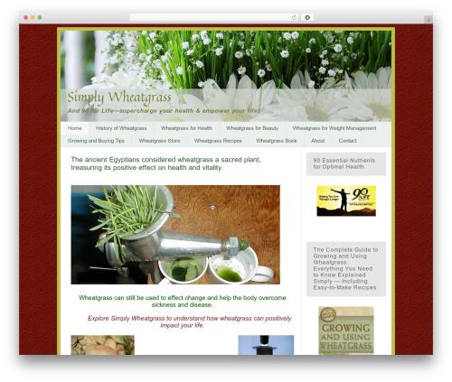 Pro Framework WordPress theme - simplywheatgrass.com
