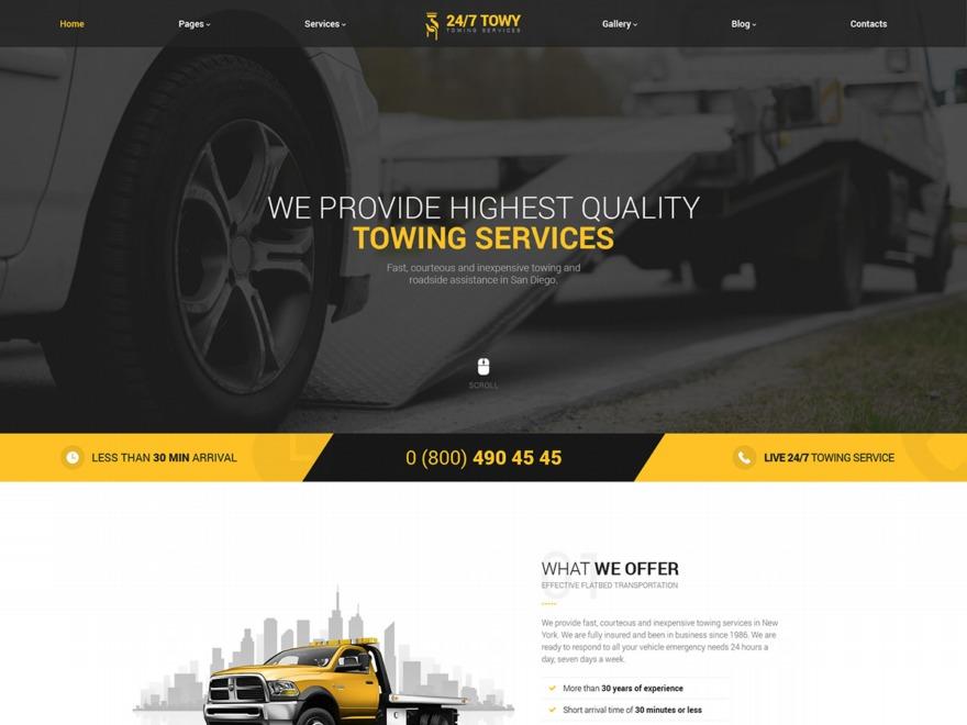 Theme WordPress Towy