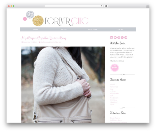 Twenty Thirteen free website theme - shopforeverchic.com