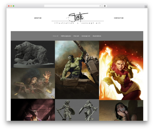 Uncode WordPress page template - stankoillustration.com