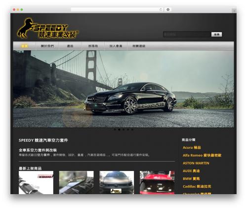 WordPress theme Speedy - speedy168.com