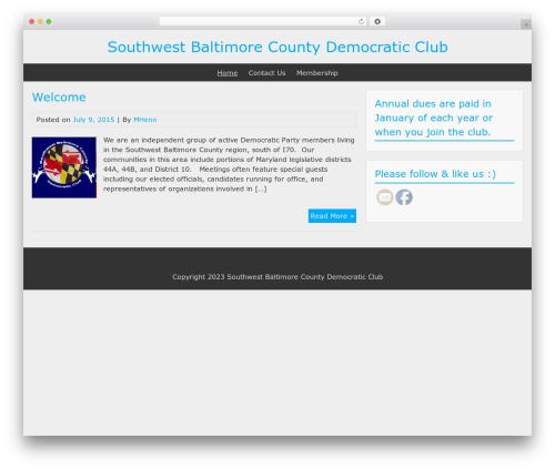 BlueGray template WordPress - sbcdems.org