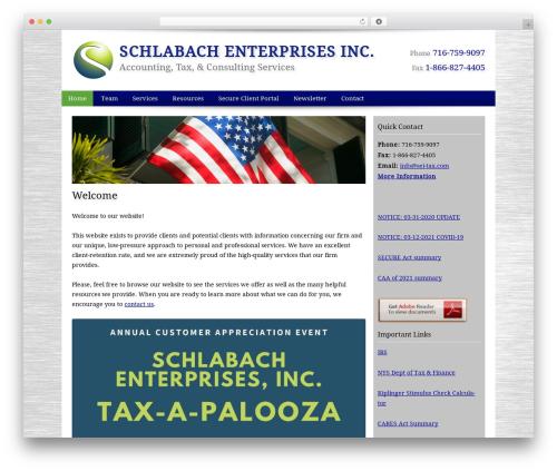 Customized business WordPress theme - sei-tax.com