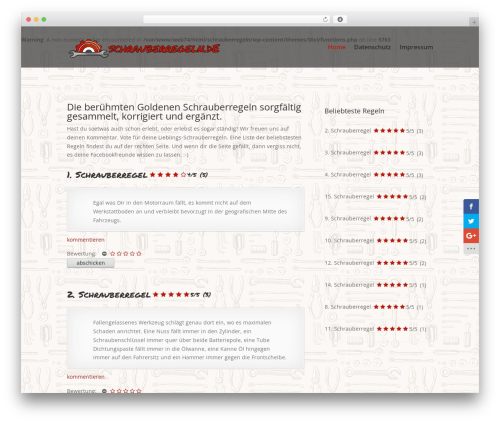 Divi theme WordPress - schrauberregeln.de