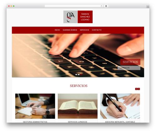 Hathor best WordPress theme - sanchezlozano.es