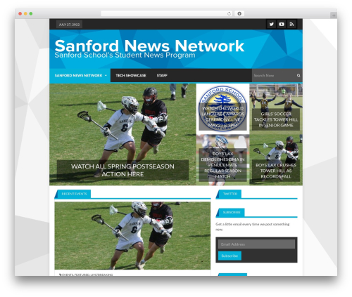 Lineza newspaper WordPress theme - sanfordnews.net