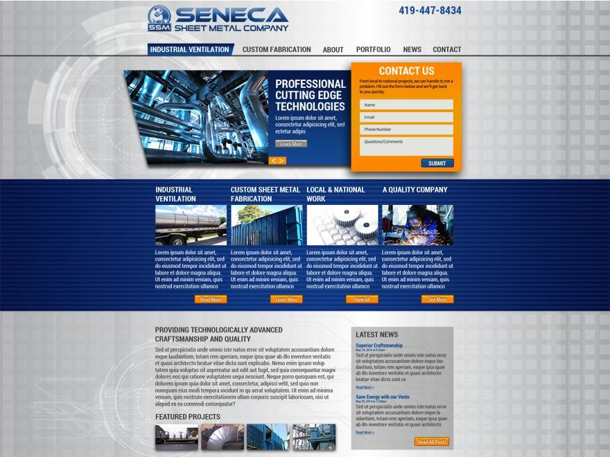Seneca Sheet Metal WordPress theme