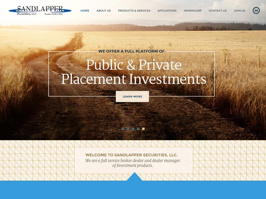 Theme WordPress SANDLAPPER Securities