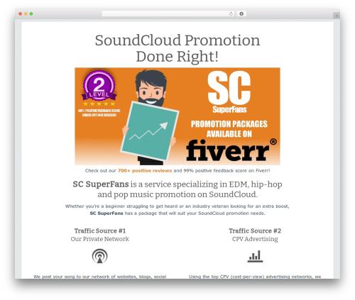 Theme WordPress SociallyViral by MyThemeShop - scsuperfans.com/soundcloud-promotion