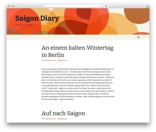Twenty Thirteen WordPress theme free download - saigondiary.com