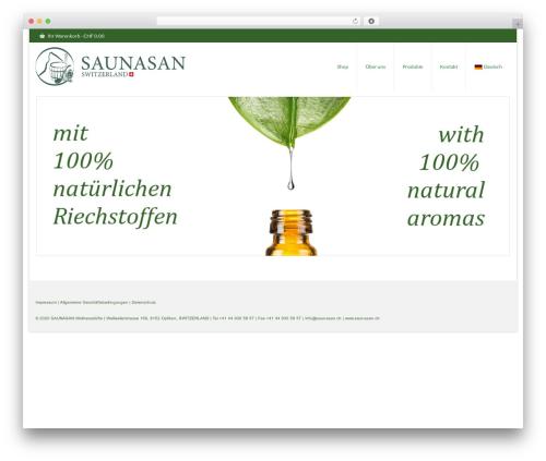 WordPress woocommerce_postfinancecw plugin - saunasan.ch