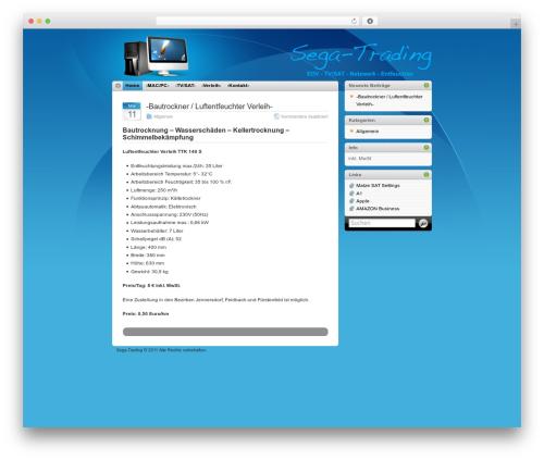 WordPress template iTheme - sega-trading.com