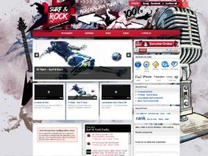 Arras Theme - SurfandRock WordPress news template