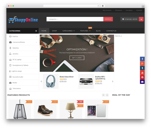 BigBoom best WordPress template - shopponline.com.au