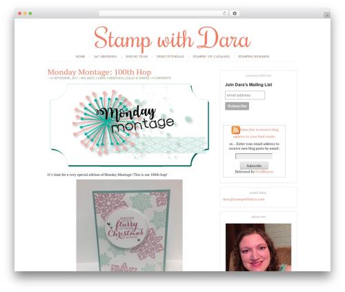 Chloe top WordPress theme - stampwithdara.com