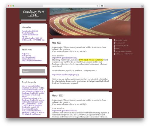 Firstyme theme WordPress - sparkmanhightrack.com