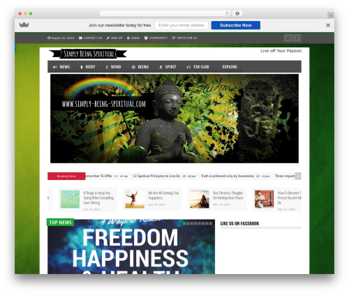 Template WordPress Reportage - simply-being-spiritual.com