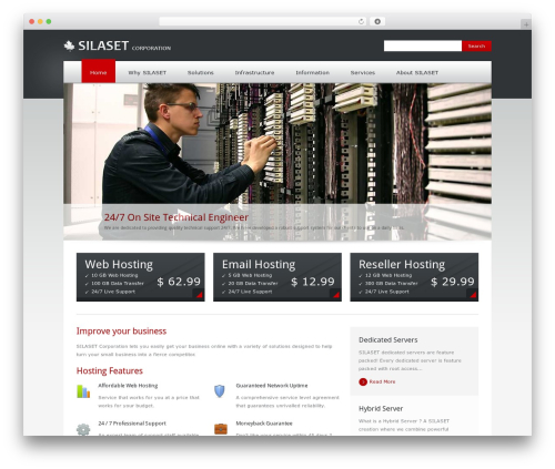 Theme WordPress Quickhost - silaset.com