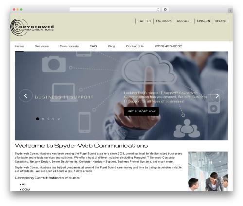 UpSide WordPress template for business - spyderweb.us