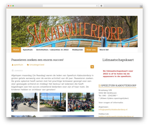 Accelerate free website theme - speeltuinkabouterdorp.nl