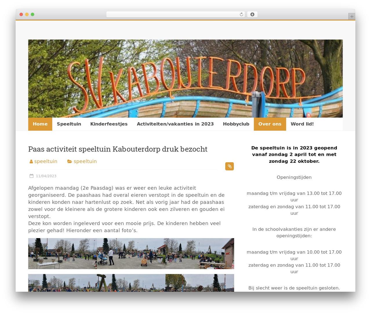 Accelerate free website theme - speeltuinkabouterdorp.nl
