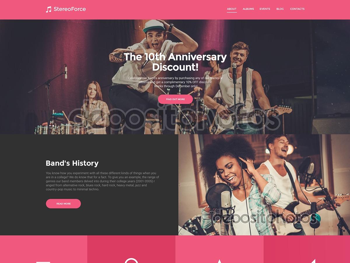 Best WordPress theme StereoForce