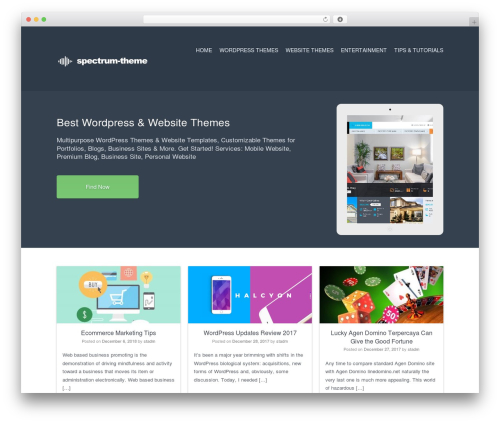 Current WordPress template free download - spectrum-theme.com