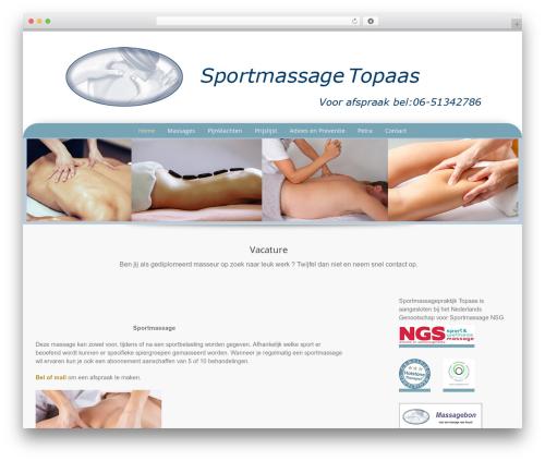 Preference Pro WordPress theme - sportmassagetopaas.nl