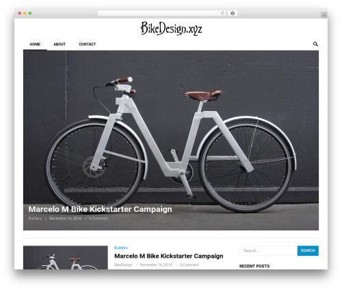 Revolution WordPress blog theme - bikedesign.xyz
